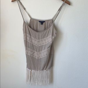 American Eagle Fringe and Lace Tank